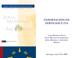 Presentación de IFRS - Chilexporta Servicios