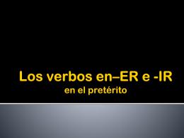 C. 10 ERIR preterit tense verbs
