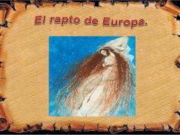 el Rapto de Europa - Lengua catellana y Literatura 2º ESO B