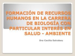 Dra.Cecilia Estrabou - Escuela de Salud Pública