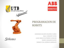 PROGRAMACION DE ROBOTS