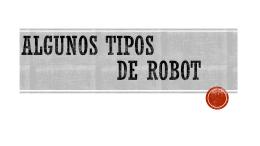 Tipos de robot