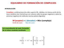 Unidad 3. Equilibrio de complejos