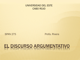 El discurso argumentativo (power point)