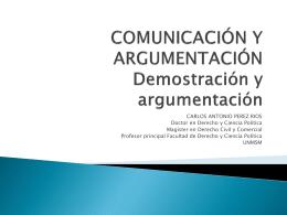 COMUNICACIÓN Y ARGUMENTACIÓN CIENTIFICA