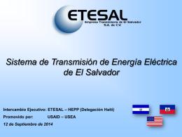 Sistema de Transmisión de Energía Eléctrica de El Salvador