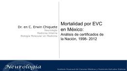 Mortalidad por EVC en México 2015. E Chiquete