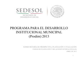 Prodim - Sedesol