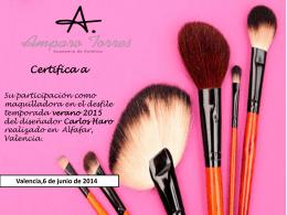 certificacion maquilladora de desfile