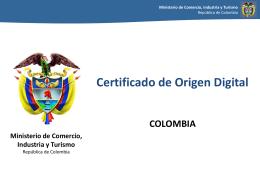 Certificado de Origen - Colombia