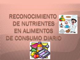 Reconocimiento de nutrientes