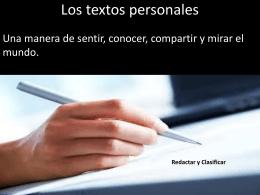 Los textos personales