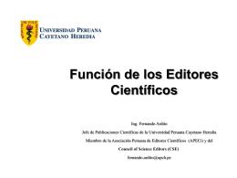 Funciones de los editores