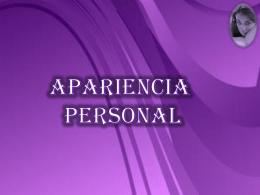apariencia personal