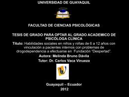 Presentación Tesis - Repositorio Digital Universidad de