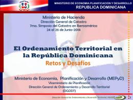 Ordenamiento Territorial en la República Dominicana.