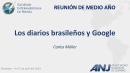Diarios brasilenos contra Google