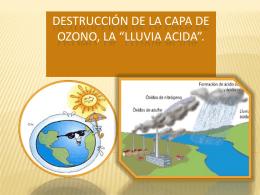 Destrucción de la capa de ozono la *lluvia acida