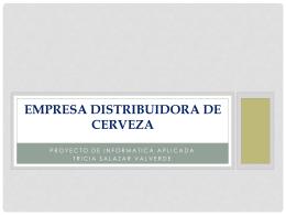 empresa distribuidora de cerveza access