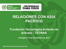 Presentación : Relaciones con Asia - Pacífico
