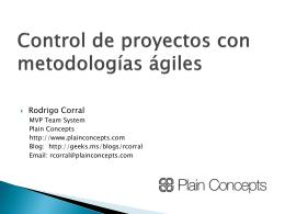 Control de proyectos con metodologías ágiles y Team