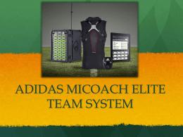 ADIDAS MICOACH ELITE TEAM SYSTEM