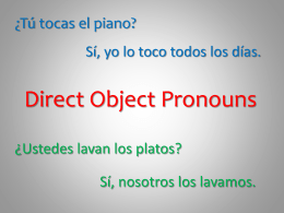 direct object pronouns.