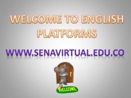 Acceso a las plataformas del curso de Inglés