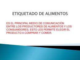 ETIQUETADO DE ALIMENTOS - Mercado Concentrador Chubut