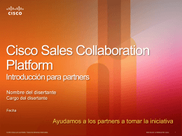 Cisco Sales Collaboration Platform