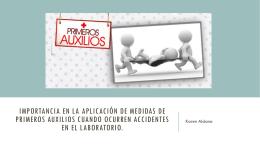 6. Importancia en la aplicacion de medidas de primeros auxilios