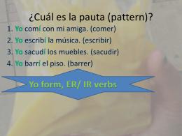¿Cuál es la pauta (pattern)?