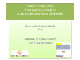 Resumen -Estudio estatal sobre la convivencia escolar en la
