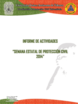 semana estatal de protección civil 2014
