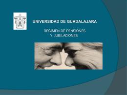 Pensiones y jubilaciones - Universidad de Guadalajara
