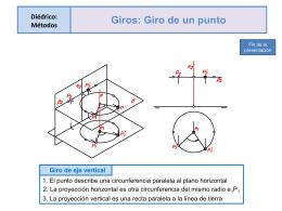 1- Diédrico Métodos: GIROS