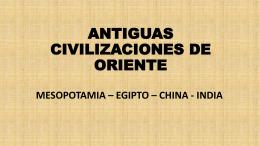 Parte 2 - Antiguas civilizaciones de oriente