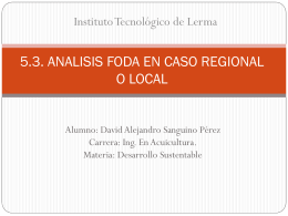 5.3. analisis foda en caso regional o local