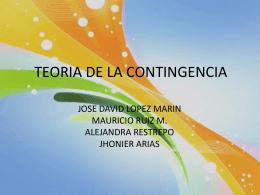 TEORIA DE LA CONTINGENCIA 2