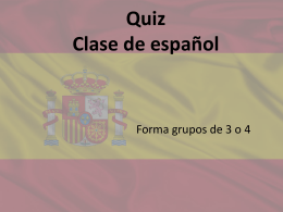 Quiz español - WordPress.com