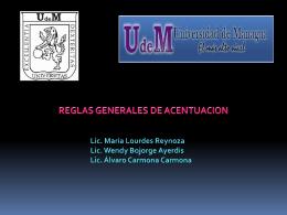 El ACENTO - Prof. María de Lourdes Reynoso
