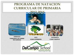 plan curricular de natación 2014-2015.