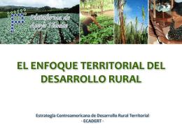 El Enfoque Territorial del Desarrollo Rural
