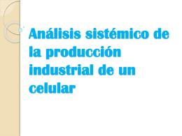 Análisis sistemico de la producción industrial de