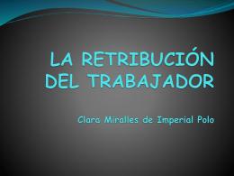 LA RETRIBUCIÓN DEL TRABAJADOR