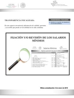 transparencia focalizada - Comisión Nacional de los Salarios Mínimos