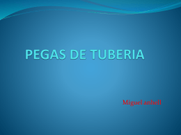 PEGAS DE TUBERIA - Geology and Drilling Problems