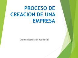proceso de creacion de una empresa