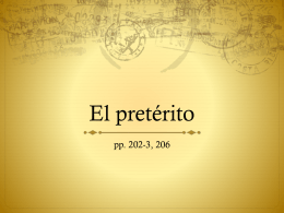 El pretérito - WordPress.com