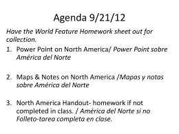 Agenda 9/21/12 - calhouncookworldgeography